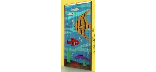 Chain Link Fly & Insect Screen Curtain  - Tropical Fish Tank
