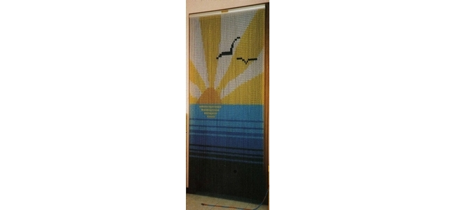 Chain Screen Bug & Insect Curtain for Doors - Sun and Sea Design