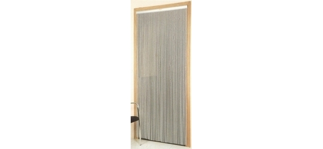 Metal Chain Screen Door Fly Curtain - Silver