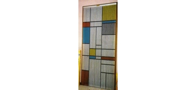 Chain Link Fly Screen Curtain for Doors - Square Pattern