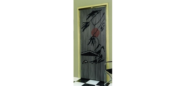 Genial Metal Chain Door Fly Screen   Palm Tree