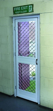 Extra Strong Heavy Use Door Fly Screen for Fire Exit Doors