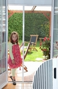 Pleated Sliding Door Insect Screen - 100cm wide