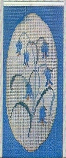 Patterned Chain Fly Screen Curtain - Bluebell
