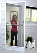 Hinged Fly Screen Door - White Aluminium