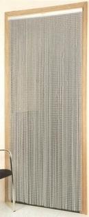 Fly Screen Chain Door Curtain - Silver