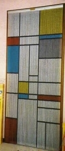 Metal Chain Door Fly Screen - Square Pattern